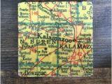 Spring Arbor Michigan Map Traverse City Michigan Map Coaster with Cork Backing Leelanau Etsy