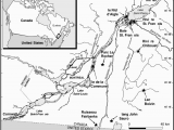 St Lawrence River Canada Map Map Of Localities In the St Lawrence River Basin In southern