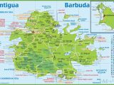 St Martin France Map Large Detailed tourist Map Of Antigua and Barbuda Cruise Travel