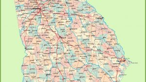State Map Of Georgia with Cities United States Map Georgia and south Carolina Lovely Georgia Road Map