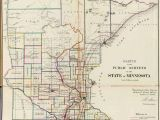 State Of Minnesota Road Map Old Historical City County and State Maps Of Minnesota