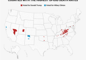 State Of Ohio Counties Map Maps Show that Counties where Opioid Deaths are High Voted for Trump
