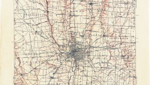 Street Map Columbus Ohio Ohio Historical topographic Maps Perry Castaa Eda Map Collection