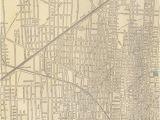 Street Map Of Flint Michigan 1800s Large Detroit Map Michigan Street Map by Ngartprints Etsy