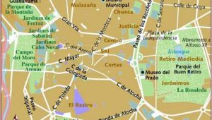 Street Map Of Madrid Spain Map Of Madrid
