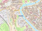 Street Map Of Rome Italy Roma City Map Laminated Wall Map Of Rome Italy