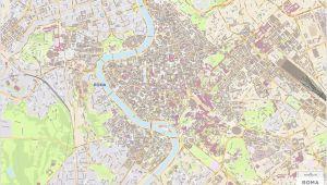 Street Map Of Rome Italy Roma City Map Laminated Wall Map Of Rome Italy