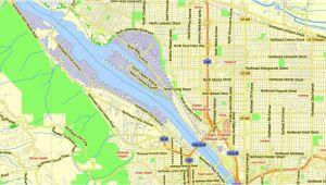 Street Map Of Salem oregon Portland Vancouver oregon City Salem Large area Printable Map