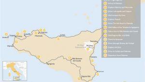 Stromboli Italy Map Map Of Spectacular Self Drive tour Around Sicily 14 Day Itinerary