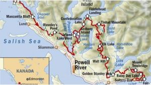 Sunshine Coast Canada Map Abenteuer In Kanada Der Sunshine Coast Trail Outdoor