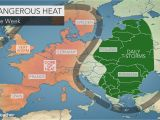 Temperature Map France Intense Heat Wave to Bake Western Europe as Wildfires Rage