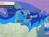 Temperature Map Of Canada Cold Blustery Weather to Spread Over northeastern Us Through Saturday