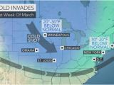 Temperature Map Of Canada Snow to Sweep Along I 70 Corridor Of Central Us Paving the Way for A