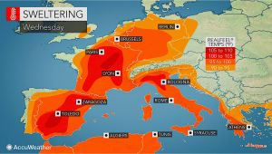 Temperature Map Spain Valencia Weather Accuweather forecast for Vc