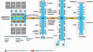 Tennessee Airport Map A Look Inside the Terminal and Concourses at Denver International