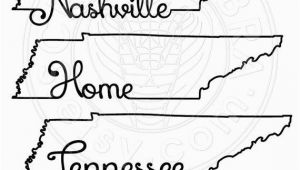 Tennessee State Map Outline Tennessee Map Outline Typography Clipart Svg Eps by Scrapcobra