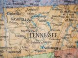 Tennessee State Road Map Old Historical City County and State Maps Of Tennessee