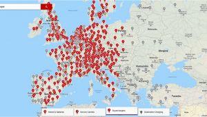 Tesla Supercharger Europe Map Tesla V Roku 2019 Pokryje Naba Jaa Kami Supercharger Celao