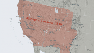 Texas and the Mexican War Map the Mexican American War