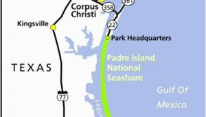 Texas Beaches Map Maps Padre island National Seashore U S National Park Service