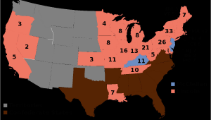 Texas Election Results Map 1864 United States Presidential Election Wikipedia