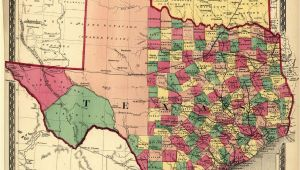 Texas Map by Counties Texas Counties Map Published 1874 Maps Texas County Map Texas