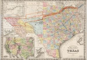 Texas Mile Marker Map Richardson S New Map Of the State Of Texas Including Part Of Mexico