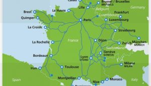 Tgv France Routes Map Map Of Tgv Train Routes and Destinations In France