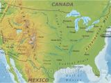 The United States and Canada Physical Map Coloring Coloring Free Printable Map Of the United States