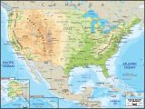 The United States and Canada Physical Map Us Map Map Usa East Coast States Capitals Creatop Eastern