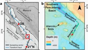 Thermal California Map A Map Of Gulf Of California Showing Tectonics Of the Region and