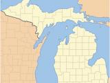 Thumb Of Michigan Map List Of Counties In Michigan Wikipedia