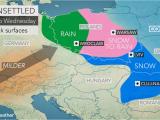 Thunderstorm Map Europe Snow Creates Slick Travel From Poland to Ukraine as Alps