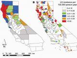 Ticks In California Map No Lyme Disease In California Yeah Right Lyme Disease Map