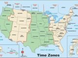 Time Zone Map Of Usa and Canada United States Of America Map with Time Zones