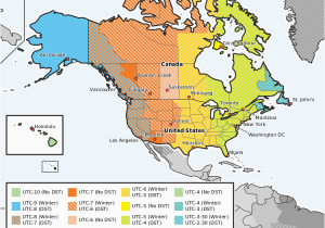 Time Zones Map Usa and Canada Sunday March 10 2019 Dst Starts In Usa and Canada