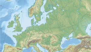 Topo Map Of Europe Europe topographic Map Climatejourney org