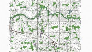 Topo Map Of Michigan Mi Wacousta Authoritative Us topos 1965 Western Michigan