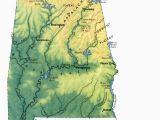 Topographic Map Of Alabama Landscape Of Alabama