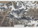 Topographic Map Of Ireland Mount Everest topographic Map Mt Everest topo Map Mt Everest