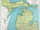 Topographic Map Of Michigan Michigan Elevation Map Maps Directions