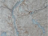 Topographic Map Of Minnesota 1937 Large Vintage topographic Map Stillwater Easton Scaghticoke