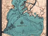 Topographic Maps Of Michigan Lake St Clair Wood Carved topographic Depth Chart Map In 2019