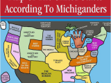 Tornado Alley Map Canada Map Of the United States According to Michiganders toronto