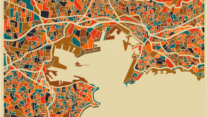 Toulon France Map toulon Map Monsieur Z toulon Hotels toulon Illustration