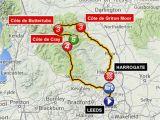 Tour De France Climbs Map tour De France Route 2014 Guide to British Stages Of Le