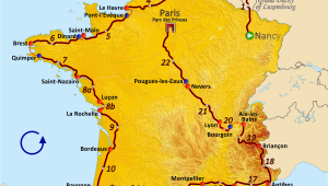 Tour De France Course Map File Route Of the 1962 tour De France Png Wikimedia Commons