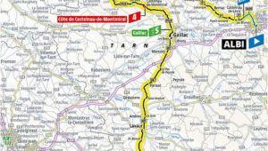 Tour De France Stage 11 Route Map A 2019 Es tour De France Aotvonala Terkepek Szintrajzok