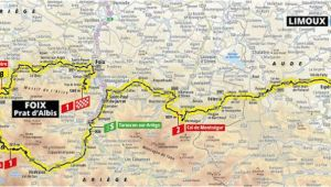 Tour De France Stage 15 Map 15 Etapa Limoux Foix tour De France 2019