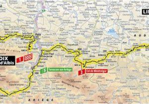 Tour De France Stage 15 Route Map A 2019 Es tour De France Aotvonala Terkepek Szintrajzok Flowcycle